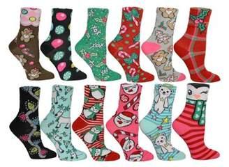 Betsey Johnson Socks Ladies 12pk Days of Christmas Advent Calendar Crew Box