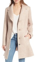 Kensie Women's Skirted Tweed Coat