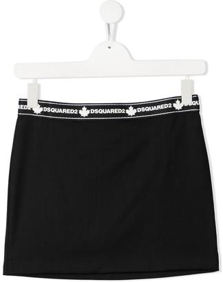 DSQUARED2 Logo Waistband Mini Skirt