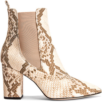 Paris Texas Faded Python Print Ankle Boot in Faded Milk | FWRD