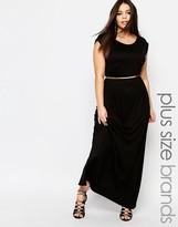 Club L Plus Essentials T Shirt Maxi Dress