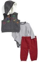Little Me Infant Boy's Dino Vest, Bodysuit & Pants Set