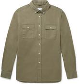 Saturdays NYC Angus Button-Down Collar Broken Cotton-Twill Shirt