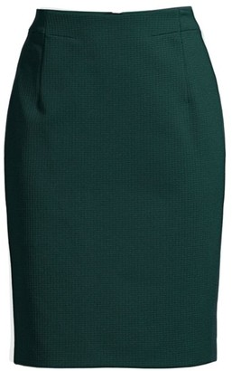 BOSS Vaxine Structured Jersey Houndstooth Pencil Skirt