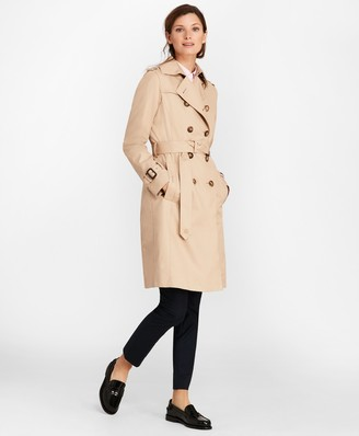 Brooks Brothers Petite Double-Breasted Trench Coat
