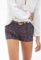 Forever 21 Pleated Floral Shorts