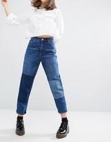 Monki Patch Denim Jeans