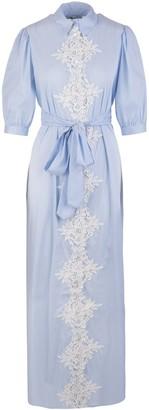 Blumarine Lace Embroidery Long Dress