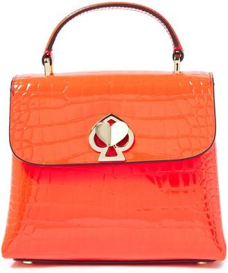 Kate Spade Croc-effect Patent Leather Shoulder Bag