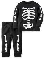 carter's® 2-Piece Skeleton Pajama in Black