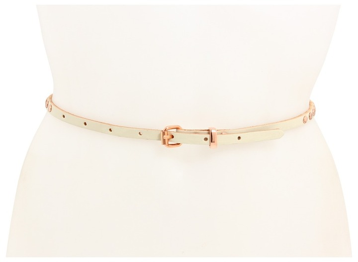 Linea Pelle Skinny Hip w/ Round Rose Gold Studs (Vanilla) - Apparel