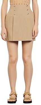 Sandro Parisa Linen Mini Skirt