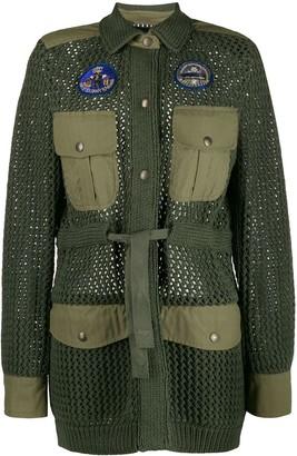 Mr & Mrs Italy knit military coat