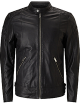 Diesel L-marton Leather Jacket, Black