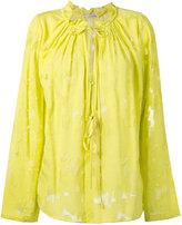 Dorothee Schumacher - sheer tie-up blouse - women - Silk/Cotton/Viscose - 1