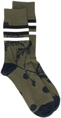Sacai Palm Tree Knit Socks
