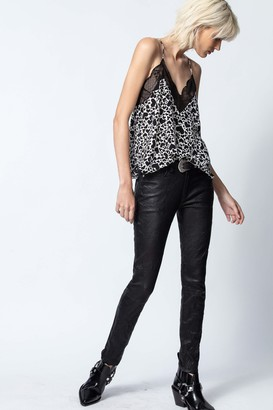 Zadig & Voltaire Christy Print Coeur Camisole