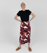 Thumbnail for your product : New Look Zibi London Geometric Split Midi Skirt