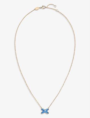 Chaumet Jeux de Liens 18ct rose-gold, blue agate and diamond pendant necklace