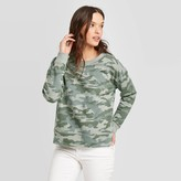 Universal Thread Women's Camo Print Crewneck Sweatshirt - Universal ThreadTM