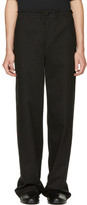 Ann Demeulemeester Black Flat Pocket Trousers