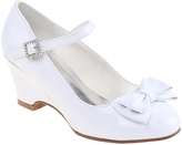 Josmo White Patent Bow Buckle Mary Jane