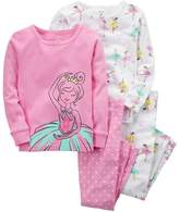 Carter's Girls 4-12 4-pc. Ballerina Pajama Set