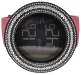 Gucci 50Mm Bezel Red I Digital Clear 11 Ct Diamond Mens Watch