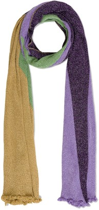 M Missoni Metallic Colour Block Scarf