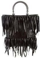 Bottega Veneta Intrecciato Leather Fringe Tote