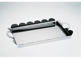 Recinto rectangular tray with handles