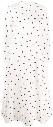 Ganni Polka Dot Print Shirt Dress