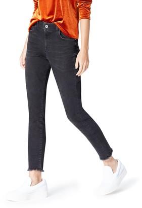 Find. Amazon Brand Women's Skinny High Rise Stretch Frayed Hem Jeans