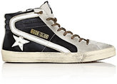 Golden Goose Deluxe Brand Men's Slide Suede & Leather Sneakers-BLACK, LIGHT GREY, WHITE