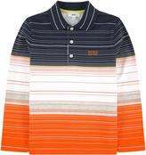BOSS Mini Me striped polo