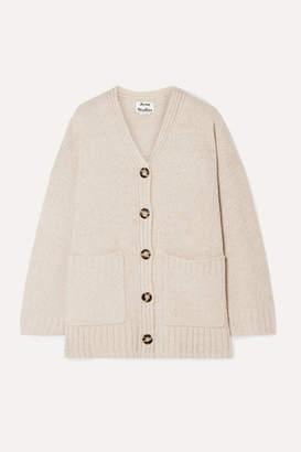 Acne Studios Kanita Oversized Wool-blend Cardigan - Beige