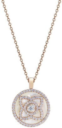 De Beers Rose Gold and Diamond Enchanted Lotus Pendant Necklace