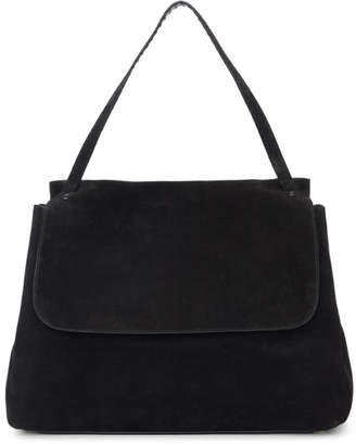 The Row Black Suede 14 Top Handle Bag