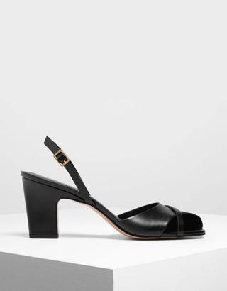 Charles & KeithCharles & Keith Asymmetrical Peep Toe Heels