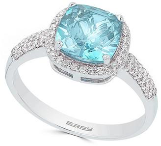 Effy 14K 2.31 Ct. Tw. Diamond & Aquamarine Ring