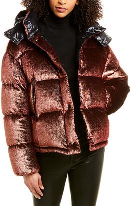 Moncler Caille Velvet Down Jacket