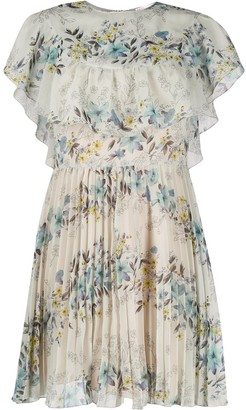 RED Valentino Floral Print Pleated Dress