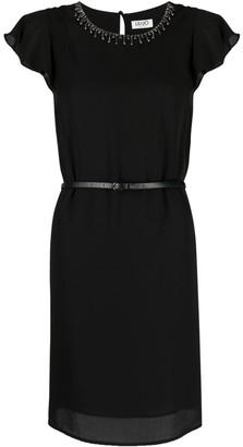 Liu Jo Embellished Short-Sleeve Dress