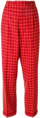 Moschino Pre-Owned checked trousers