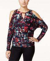 Thalia Sodi Printed Cold-Shoulder Top, Only at Macy's