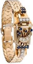 Hamilton 14K Sapphire and Diamond Surprise Watch