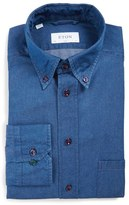 Eton Slim Fit Denim Dress Shirt