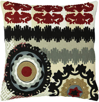 "Mod Lifestyles Southwest Collection Eclectic Aztec Embroidery Pillow, 20"" X 20"""
