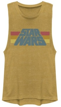 Fifth Sun Star Wars Classic Stripe Logo Design Festival Muscle Tank