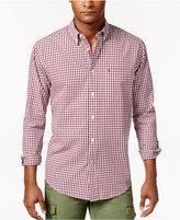 Tommy Hilfiger Men's Long-Sleeve Twain Check Classic Fit Shirt